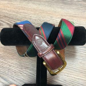 Tommy Hilfiger Red, Blue & Green Stripe Belt 36